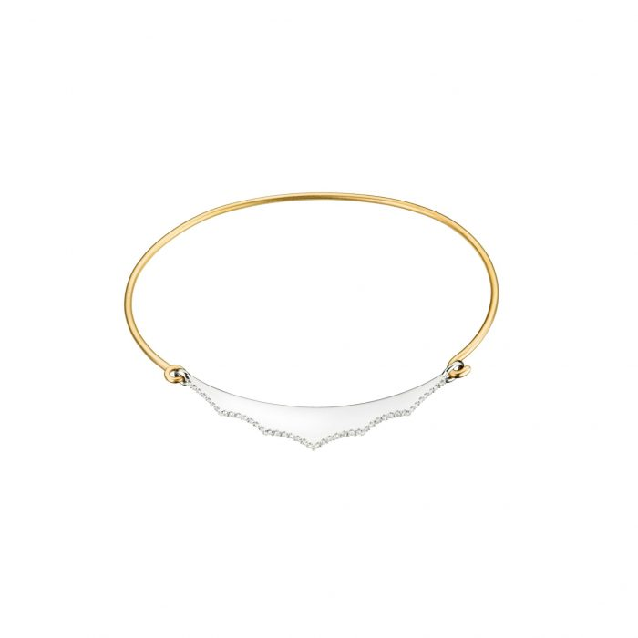 Yellow and white gold bracelet with diamonds