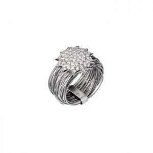 White gold and diamonds-Ninho ring