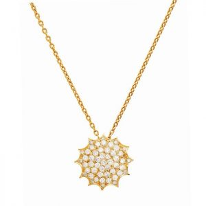 Polar Necklace-gold and diamonds