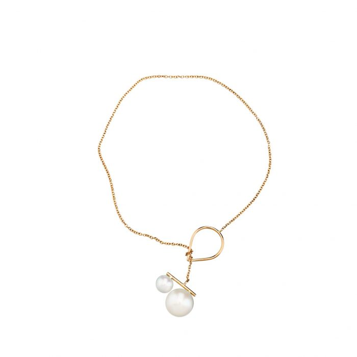 Gold and pearls bracelet