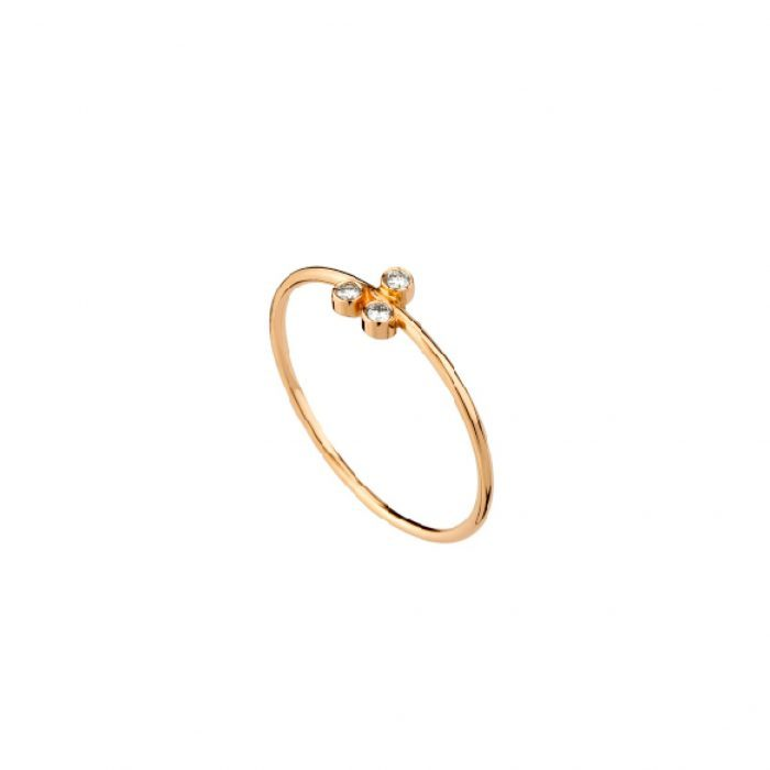 Gold and diamonds ring-Mimata