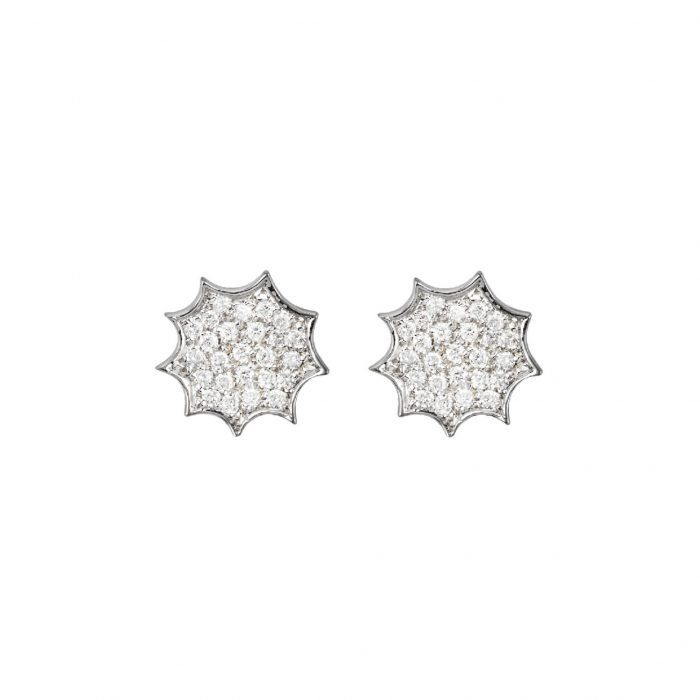 Single Earrings-white gold and diamonds