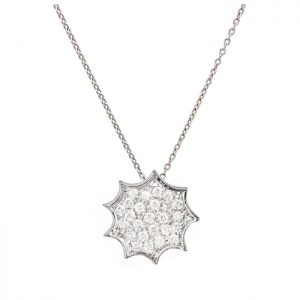 Single Necklace-white gold and diamonds