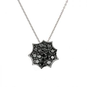 Single Necklace with black diamonds