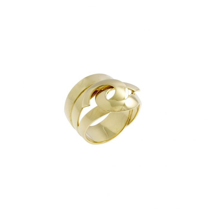 Yellow gold ring Mimata