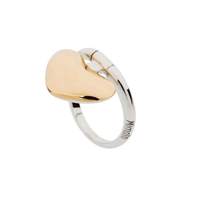 White and pink gold ring