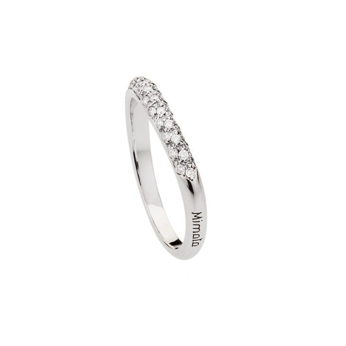 Heart Ring with white diamonds