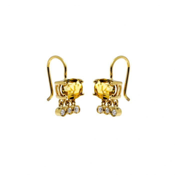 Império_gold, beryl and diamonds earrings